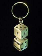 """""""JJ"""" Jonette Jewelry Bronze Pewter 'LUCKY 7' Dice Key Chain"""