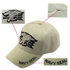 Hot Sale Beige Hats Military Embroidered US Navy Seal Baseball Cap Sunhat Stock