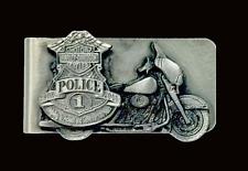 HARLEY DAVIDSON 100TH ANNIVERSARY POLICE METAL MONEY CLIP