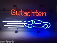 GUTACHTEN Unfall Auto Neonreklame signs Neonschild Neon sign Leuchtreklame