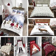 Christmas Duvet Cover Set King Size Double Single Super Quilt Bedding Santa Xmas