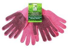 2 X Pairs Heavy Duty Stretch Knit Cotton Garden Gloves Green Rubber Grips Yard, Garden & Outdoor Living