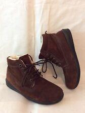 Luftpolster Dark Brown Ankle Suede Boots Size 4