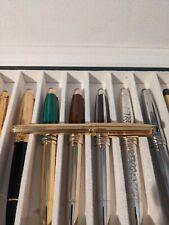 Mont Blanc 144 Solitaire Vermeil Gold Pinstripe Fountain Pen Mint