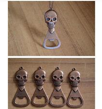 5PcsVintage Skull Bottle Opener Metal Beer Cap Corkscrew Beer Bottle Opener Gift