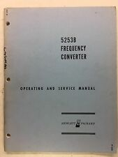 HP 5253B Frequency Counter Operating & Service Manual w/Schematics 05253-9009