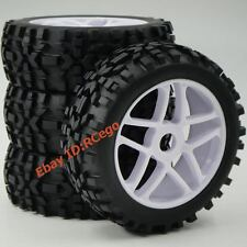 4pcs 1/8 RC Off Road Tires & Hex 17mm Wheels for All Terrain Wild Buggy Car Part
