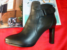 $1195 CHIC&SEXY MINT AUTH.LANVIN PARIS Top-stitched METAL TOE-BOOTS/BOOTIES 39.5