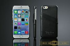 iphone 6/6s 4.7 Genuine Leather Hand Crafted case Back Cover Only,BLK