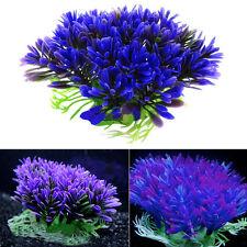 Purple Aquarium Fish Tank Decoration Ornament Grass Lawn Underwater Water Plant