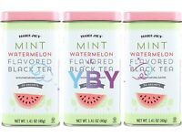 3 Packs Trader Joe's Mint Watermelon Flavored Black Tea 20 Tea Bags 1.41oz Each