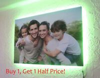 Your Photo To LED BACKLIT Canvas : 32 x 20 INCH : USB Powered Canvas Wall Art