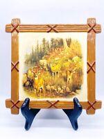 "Vtg Retro Hautman Brothers Collection Ceramic Hanging Deer Wall Decor Trivet 8""W"