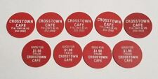 9 Vintage Plastic Poker Style Coupon Chips for CROSSTOWN CAFE in SIOUX CITY IA