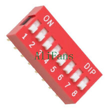 5 PCS Slide Type Switch Module 2.54mm 8-Bit 8 Position Way DIP Red Pitch NEW