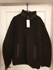 Uniqlo Pile Lined Sherpa Fleece Full-Zip Jacket Dark Green - XL