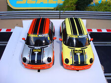 PAIR BRAND NEW COMPLETE UNBOXED SCALEXTRIC MINI CARS - LOADS MORE CARS FOR SALE
