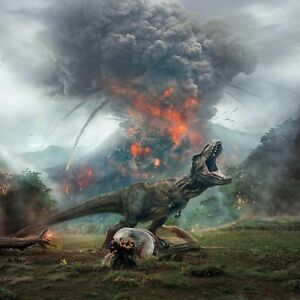 "Jurassic World: Fallen Kingdom (2018) Movie Silk Fabric Poster 16""x16"" 24""x24"""