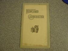 Newcomb Carbureter Carburetor Holter-Cabot Antique 1912 Sales Book Pamphlet