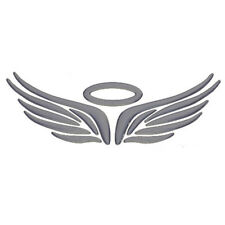 Car Pickup Body Logos Sticker Silver 3D Guardian Angel Wings Graphics Decal