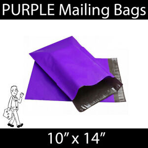 """Strong PURPLE Mailing Bags Postal Mail Self Seal Bags 10""""x14"""""""