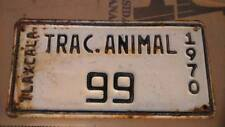 TLAXCALA MEXICO AÑO 1970  # 99 TIN License Plate TRACCION ANIMAL Collectable