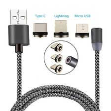 Magnetisches Ladekabel für Lightning Micro USB C 1,20m Magnet Kabel iPhone Typ C