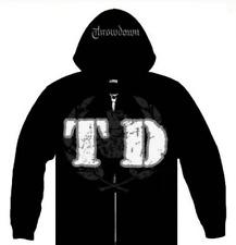THROWDOWN - Wreath - Black Zip Up Hoodie XXL NEW