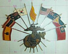 US MARINE CORPS - STEEL PLAQUE - Vietnam War - SPAIN - ANZACs - USA - THAI, 0937