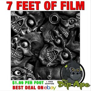 Hydrographic film Horney Skulls  7' hydro Dip Dipping Dip Ape