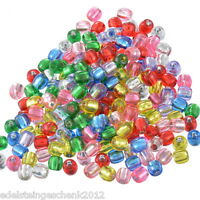 300 Mix Acryl Rocailles Perlen Glasperlen Seed Beads 7x7mm