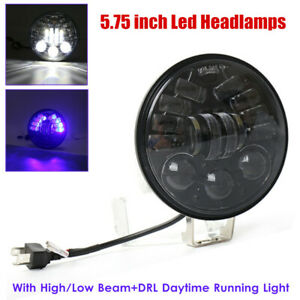 "5.75"" Motorcycle LED Headlamp Halo Round Projector Daytime Running DRL Hi/Lo 12V"