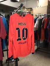 Nike 2014-2015 Messi XL L/S FC Barcelona Away Shirt Jersey Camiseta Kit NWT