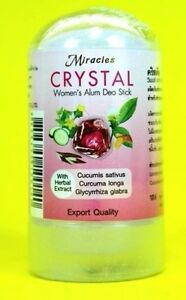 LADY DEODORANT ROLL ON NATURAL CRYSTAL ALUMINUM IN FOR WOMEN ROCK STONE ANTIPERS