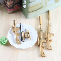 Black Ink Ballpoint Pen Stationery Creative Novelty Cute Gold Rifle Shape Design