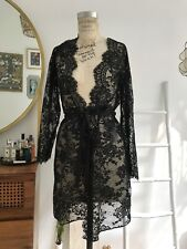Black Sexy Lace Robe Size Extra Small