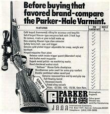 1976 small Print Ad of Parker Hale Jana Varmint Rifle compare checklist