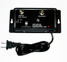 CABLE TV ANTENNA SIGNAL AMPLIFIER BOOSTER 36DB HDTV UHF VHF FM 5-1000 MHZ 1.4 W