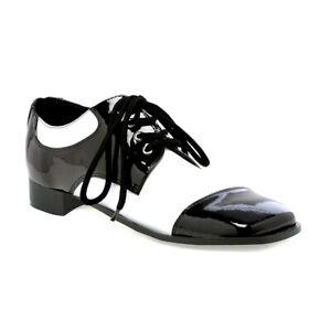 Ellie 121-FRED Men's Black White Zoot Suit Gangster Wing Tip Loafer Dress Shoe