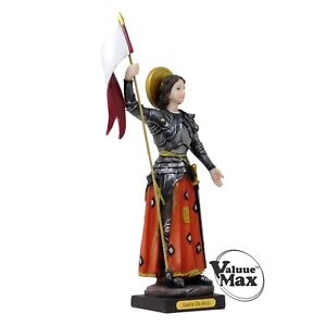 Joan of Arc Statue 12 Inch Tall Finely Detailed Resin Figurine