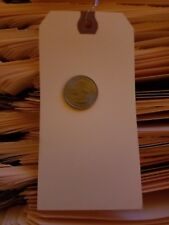 """25-  2-5/8"""" x 5-1/4"""" WIRED MANILA TAG HANG LABEL SHIPPING INVENTORY STOCK SIZE 6"""