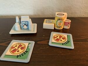 Playskool Dollhouse Loving Family Canned Food & Cereal Piece, Milk Tray & Pizza