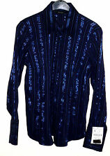 Zara Classic Collar Striped Tops & Shirts for Women