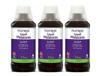 Natrol Melatonin Liquid Sleep Aid 2.5mg 8 oz with Cup Drug Free (3 Pack)