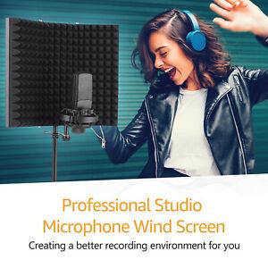 Studio Aufnahme Mikrofon Isolation Shield Pop Filter Mikrofon Windschutz Schwarz