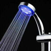 7 Color Romantic LED Light Water Bathroom Changing Shower Head Glow Handheld US