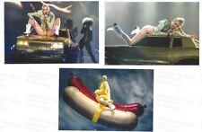Miley Cyrus - Set of 4 original color concert photos from 2014 tour