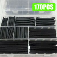 170X Heat Shrink Tubing Electrical Cable Wire Sleeving Wrap Cover Assortment Kit
