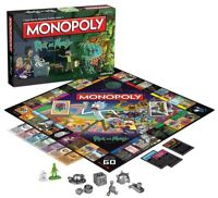 Rick And Morty Monopoly Board Game Adult Swim Version Fun Gameplay