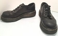 Dr. Martens UK 7 Black Leather Wingtip Oxfords Women's 8.5 to 9 M Shoes
